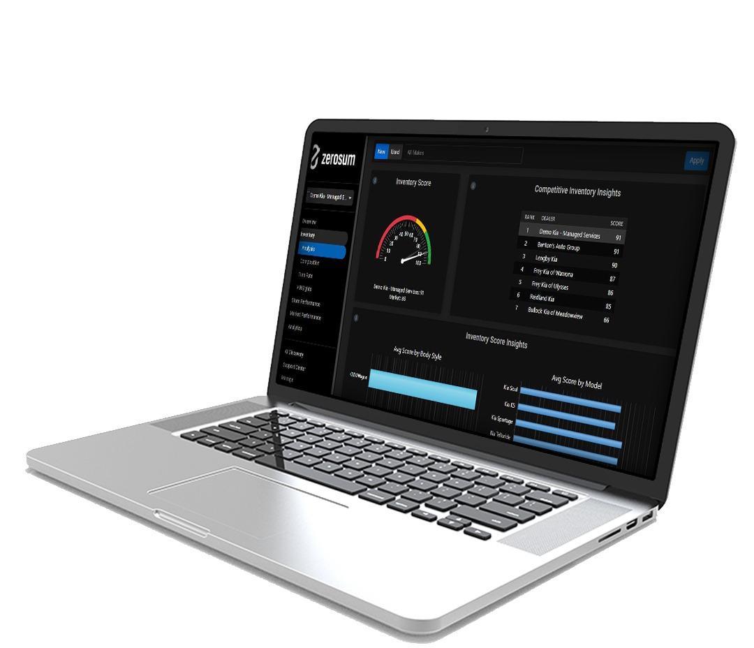 Laptop showing MarketAI platform